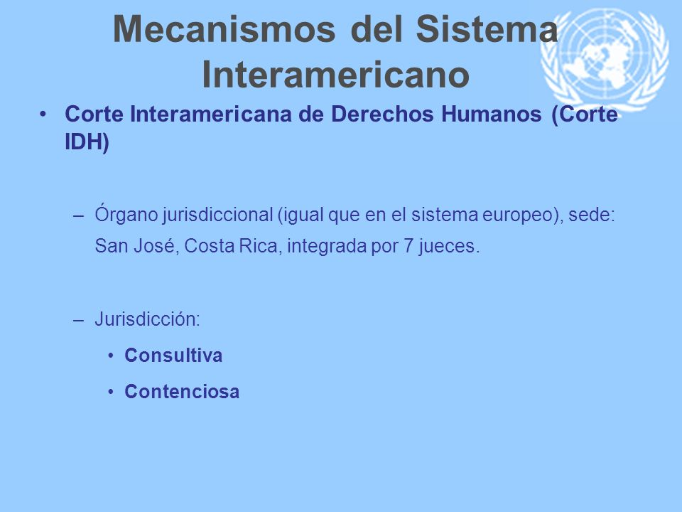 Mecanismos del Sistema Interamericano