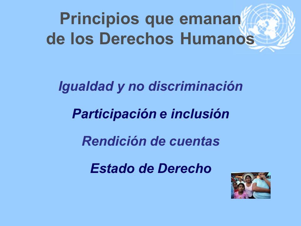 Principios que emanan de los Derechos Humanos