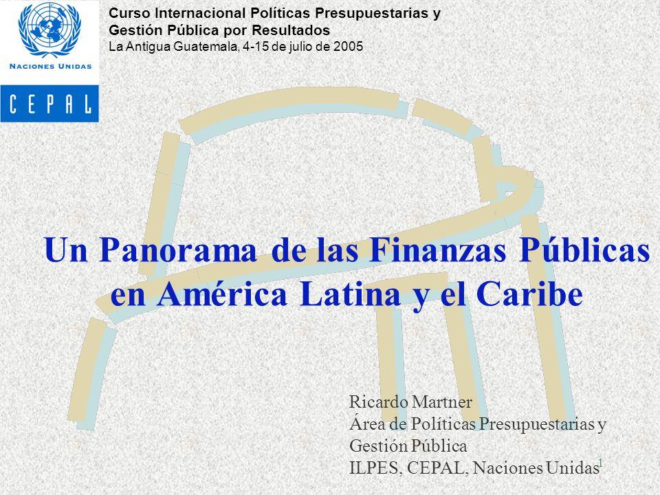 Un Panorama de las Finanzas Públicas en América Latina y el Caribe