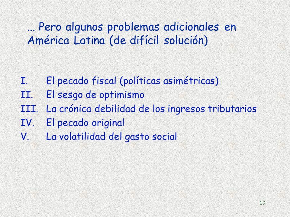 ... Pero algunos problemas adicionales en América Latina (de difícil solución)