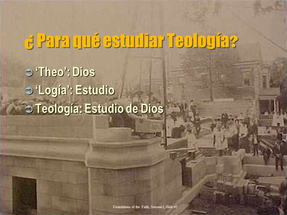 ¿ Para qué estudiar Teología