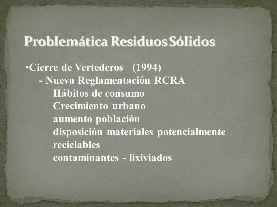 Problemática Residuos Sólidos