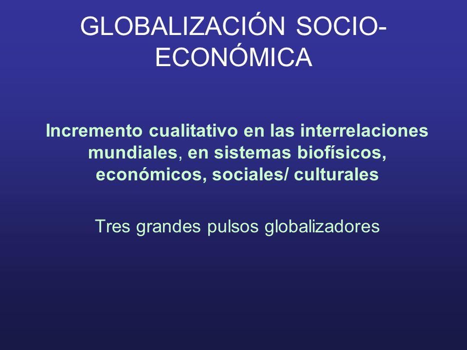 GLOBALIZACIÓN SOCIO-ECONÓMICA