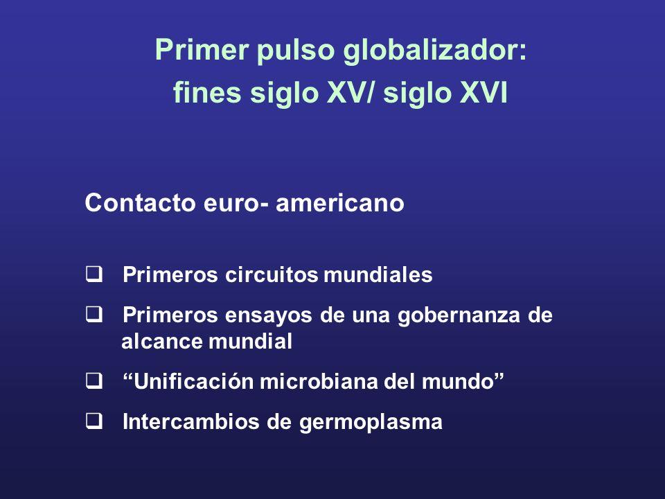 Primer pulso globalizador: fines siglo XV/ siglo XVI