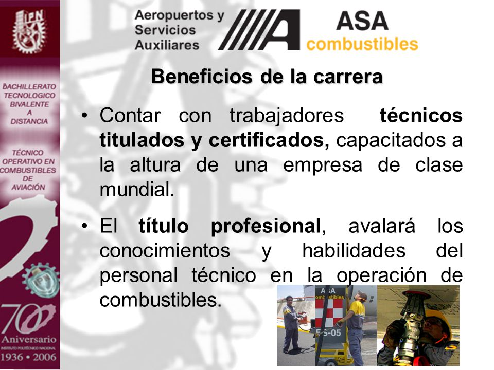 Beneficios de la carrera