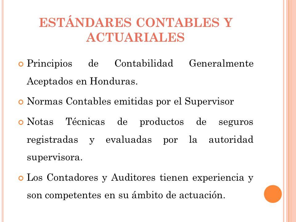 ESTÁNDARES CONTABLES Y ACTUARIALES