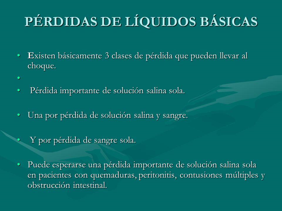 PÉRDIDAS DE LÍQUIDOS BÁSICAS