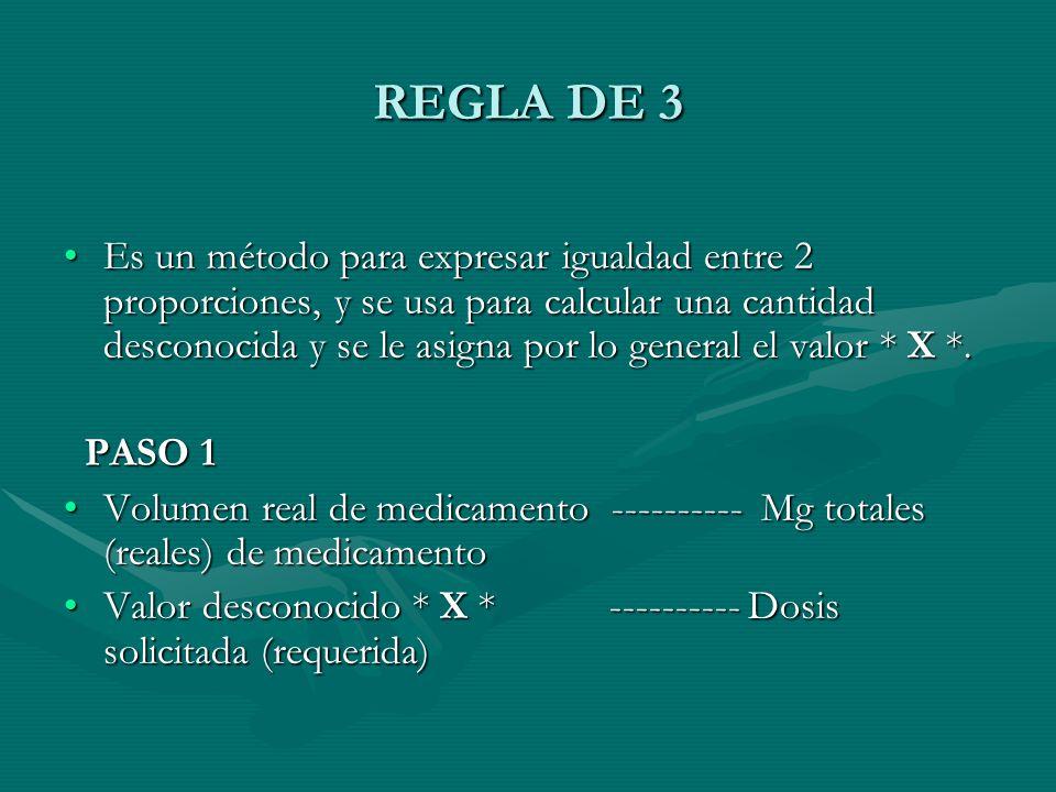 REGLA DE 3