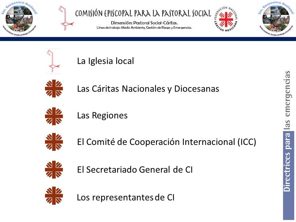 La Iglesia local Las Cáritas Nacionales y Diocesanas. Las Regiones. El Comité de Cooperación Internacional (ICC)