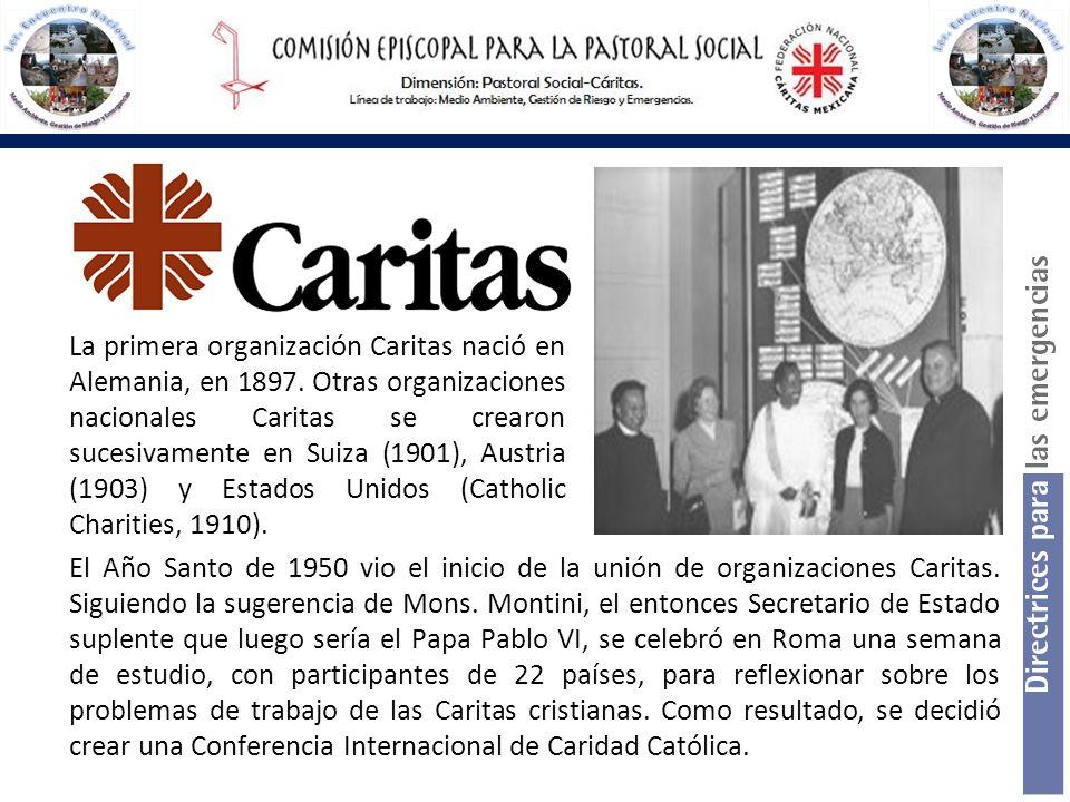 La primera organización Caritas nació en Alemania, en 1897