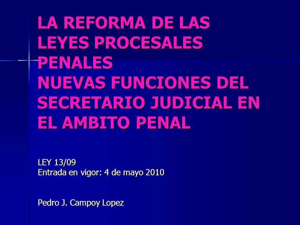 LEY 13/09 Entrada en vigor: 4 de mayo 2010 Pedro J. Campoy Lopez