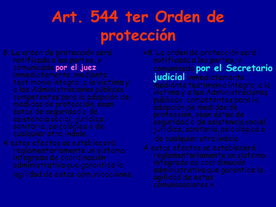 Art. 544 ter Orden de protección