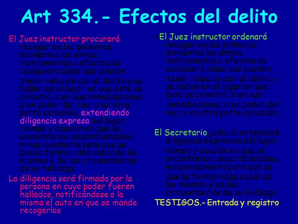 Art 334.- Efectos del delito