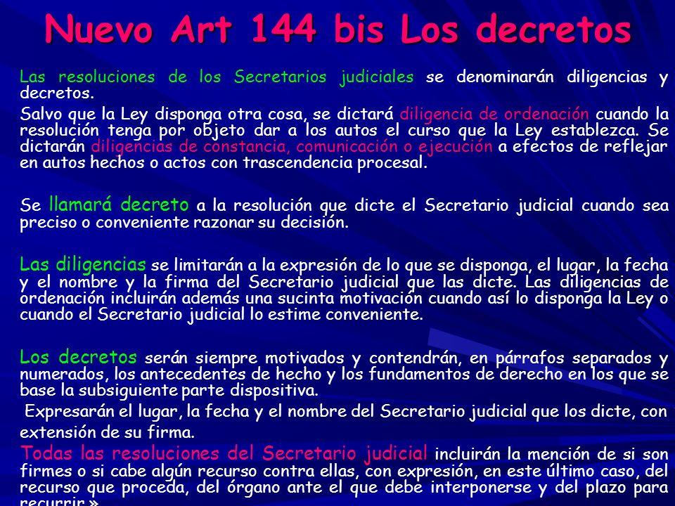 Nuevo Art 144 bis Los decretos