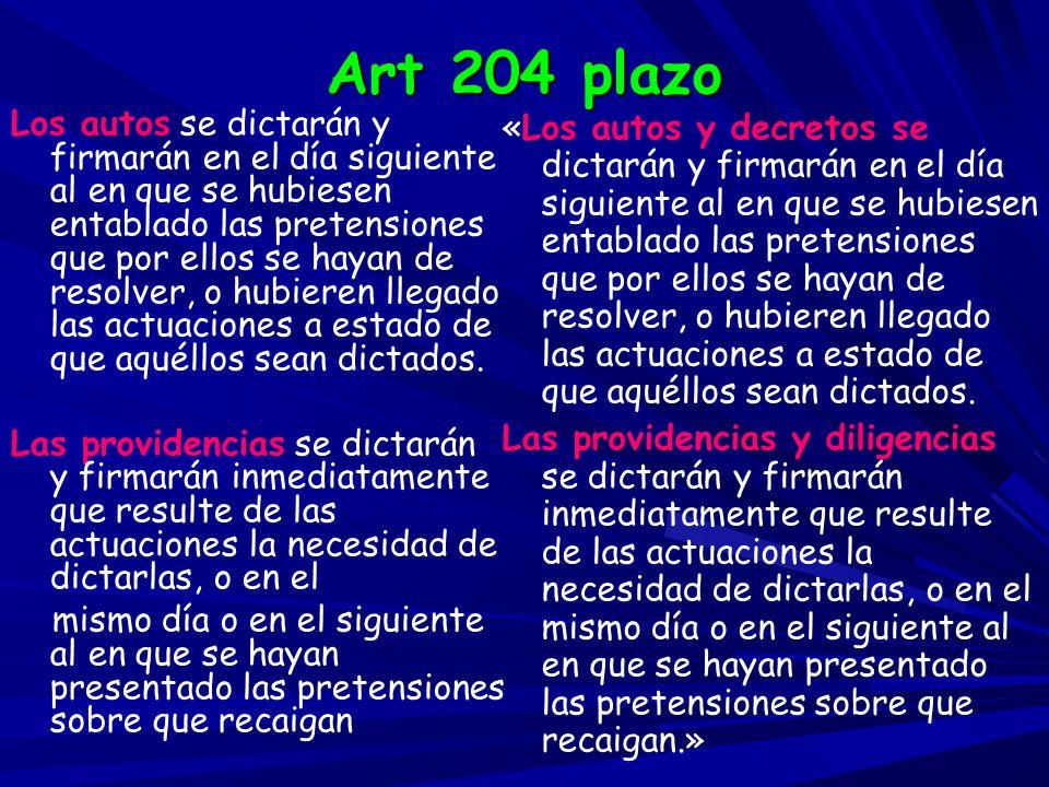 Art 204 plazo
