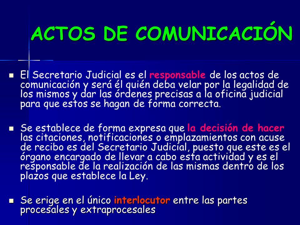 ACTOS DE COMUNICACIÓN