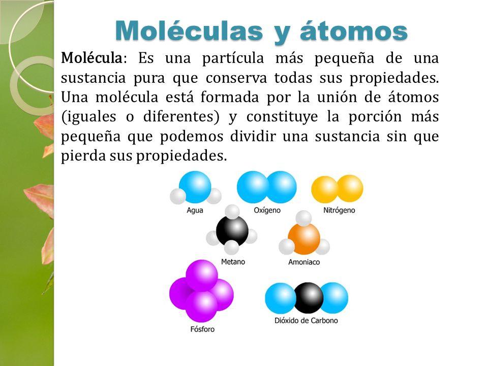 Moléculas y átomos