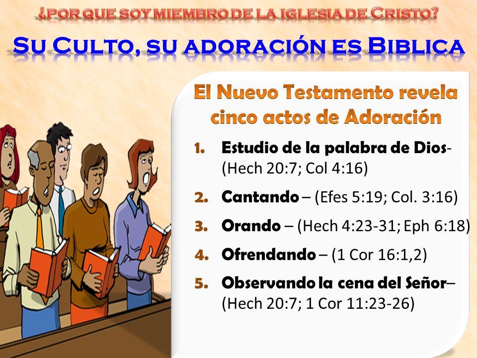 Su Culto, su adoración es Biblica