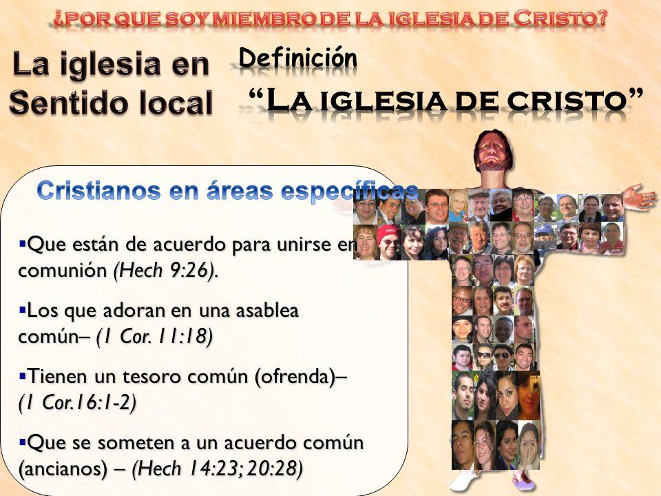 La iglesia en La iglesia de cristo Sentido local Definición