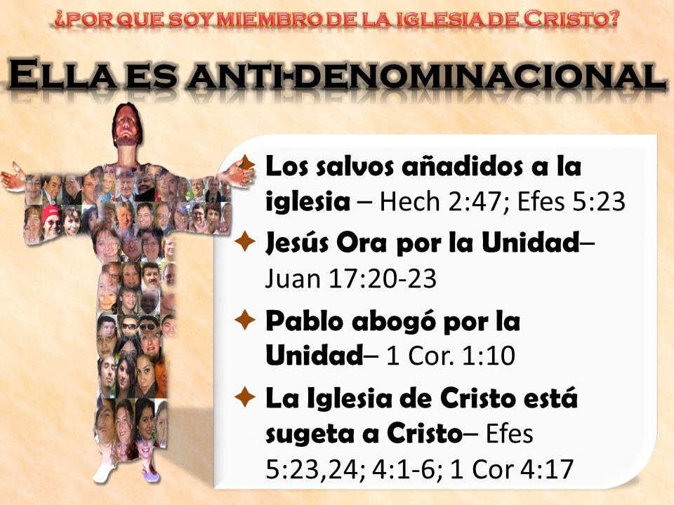 Ella es anti-denominacional