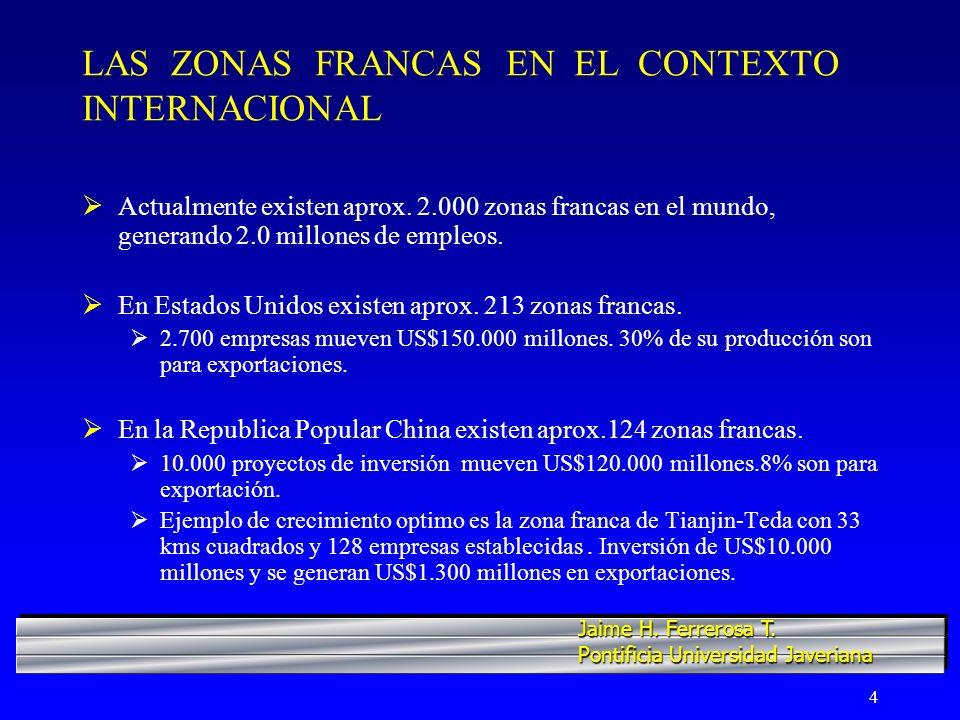 LAS ZONAS FRANCAS EN EL CONTEXTO INTERNACIONAL