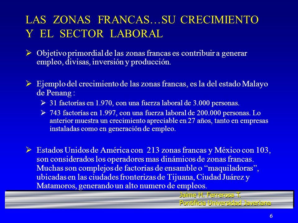 LAS ZONAS FRANCAS…SU CRECIMIENTO Y EL SECTOR LABORAL