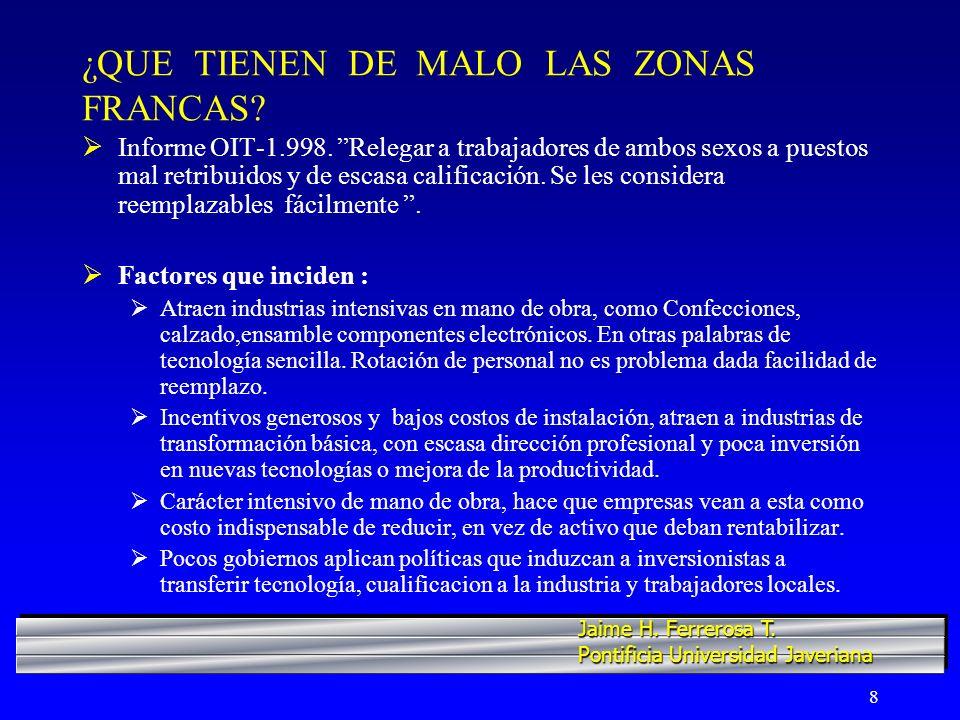 ¿QUE TIENEN DE MALO LAS ZONAS FRANCAS