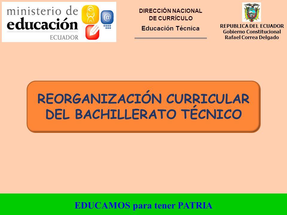 Reorganización Curricular Del Bachillerato Técnico