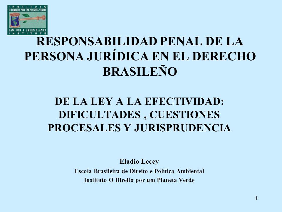 RESPONSABILIDAD PENAL DE LA PERSONA JURÍDICA EN EL DERECHO BRASILEÑO
