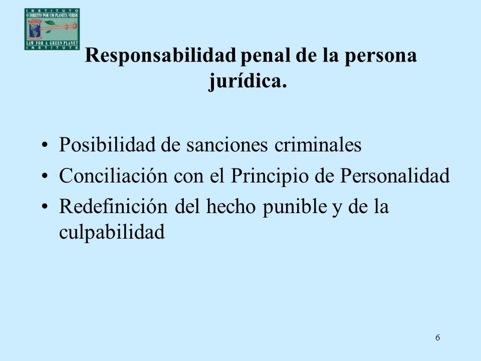 Responsabilidad penal de la persona jurídica.