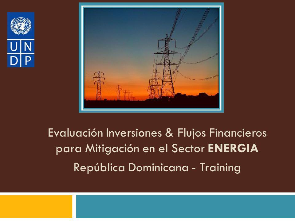 Evaluación Inversiones & Flujos Financieros para Mitigación en el Sector ENERGIA República Dominicana - Training