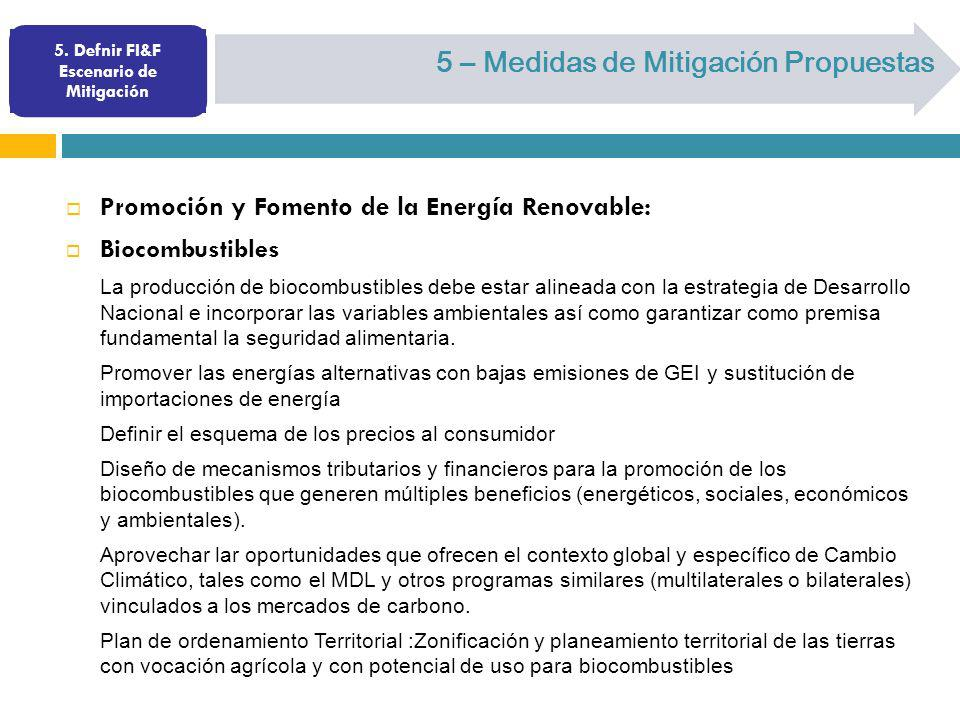 5. Defnir FI&F Escenario de Mitigación