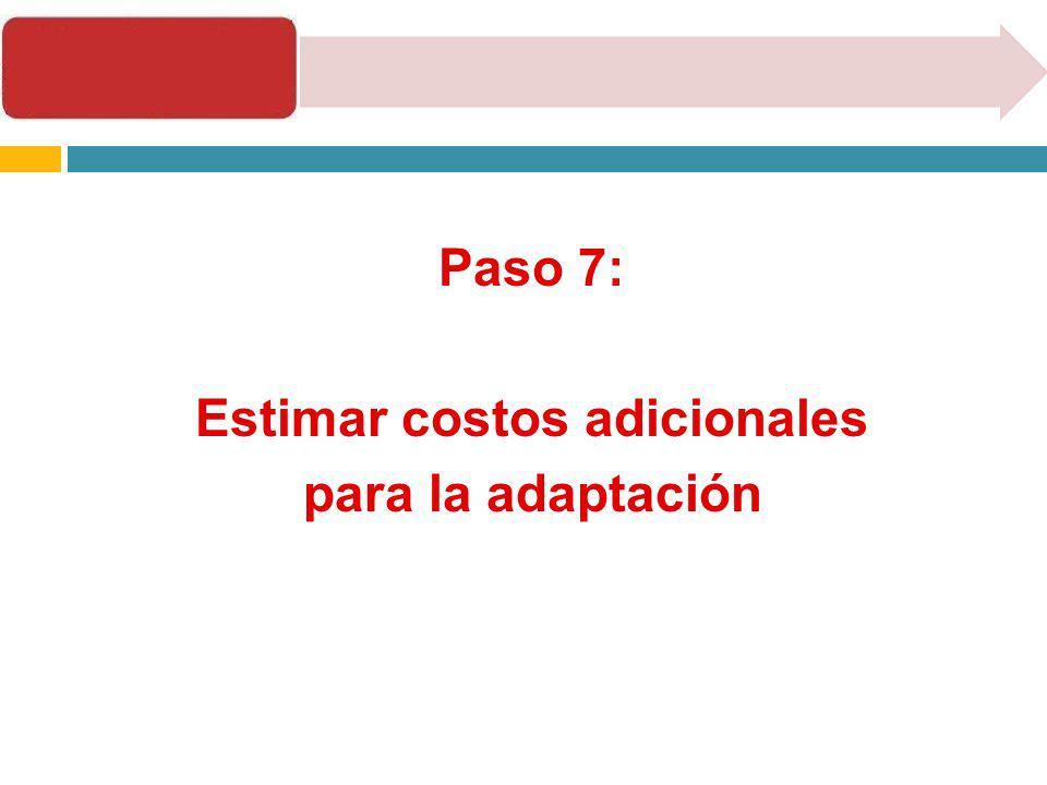 Estimar costos adicionales