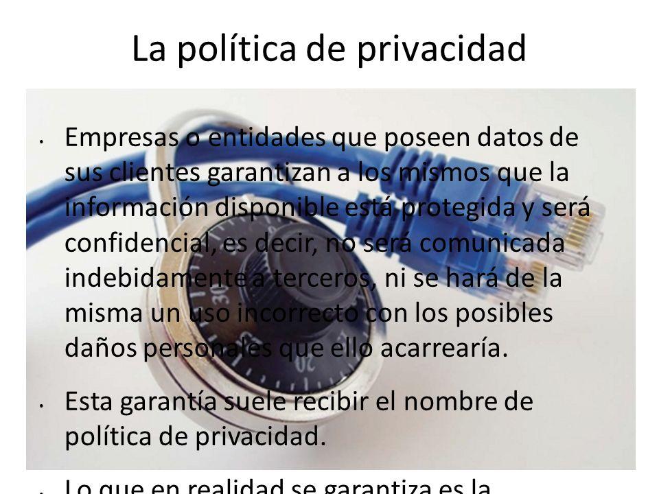 La política de privacidad