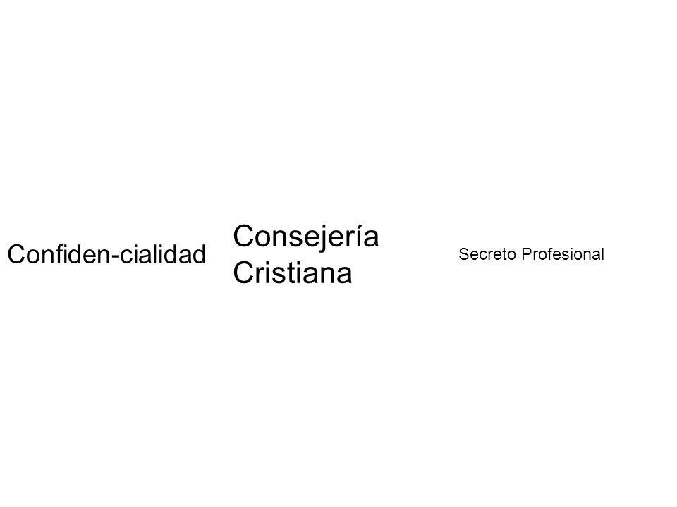 Consejería Cristiana Confiden-cialidad Secreto Profesional