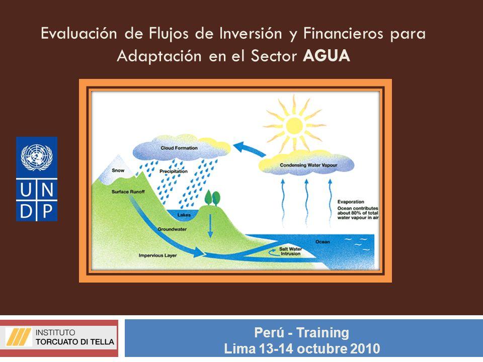 Evaluación de Flujos de Inversión y Financieros para Adaptación en el Sector AGUA