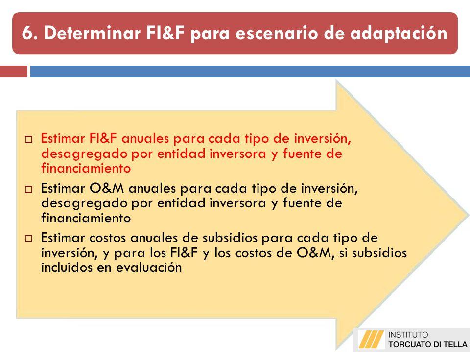 6. Determinar FI&F para escenario de adaptación