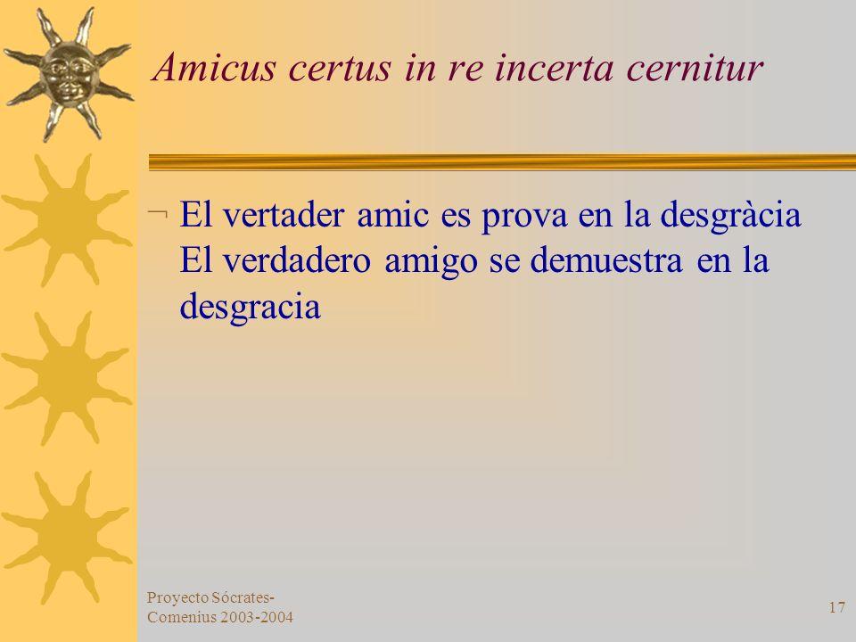 Amicus certus in re incerta cernitur