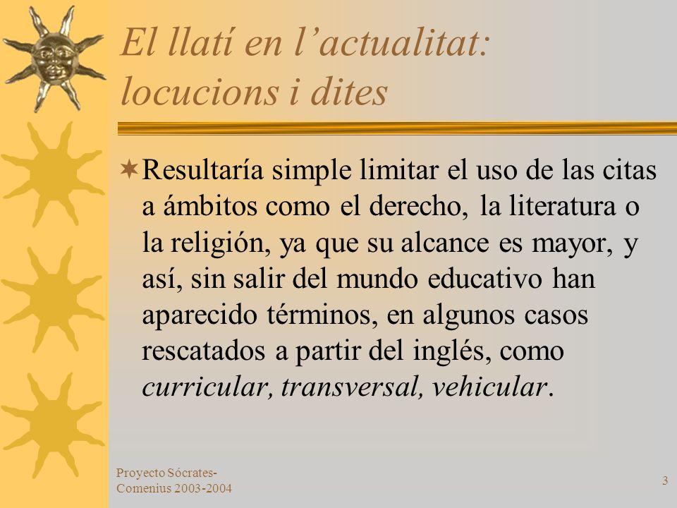 El llatí en l'actualitat: locucions i dites