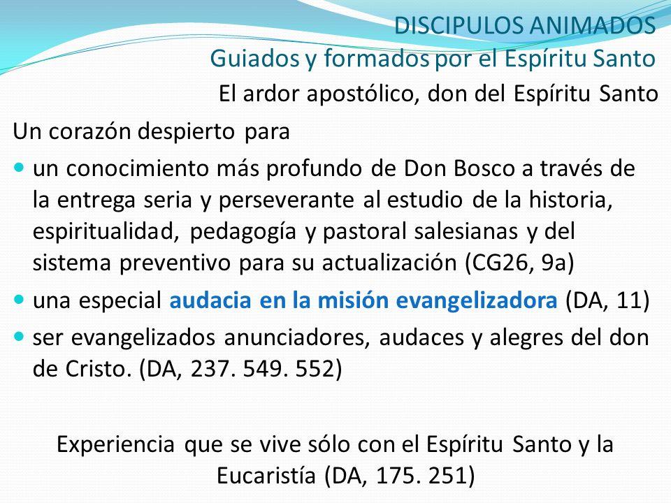 DISCIPULOS ANIMADOS Guiados y formados por el Espíritu Santo