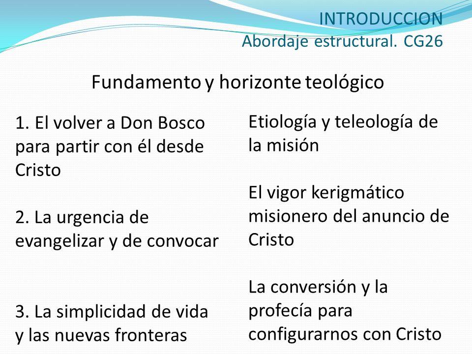 INTRODUCCION Abordaje estructural. CG26