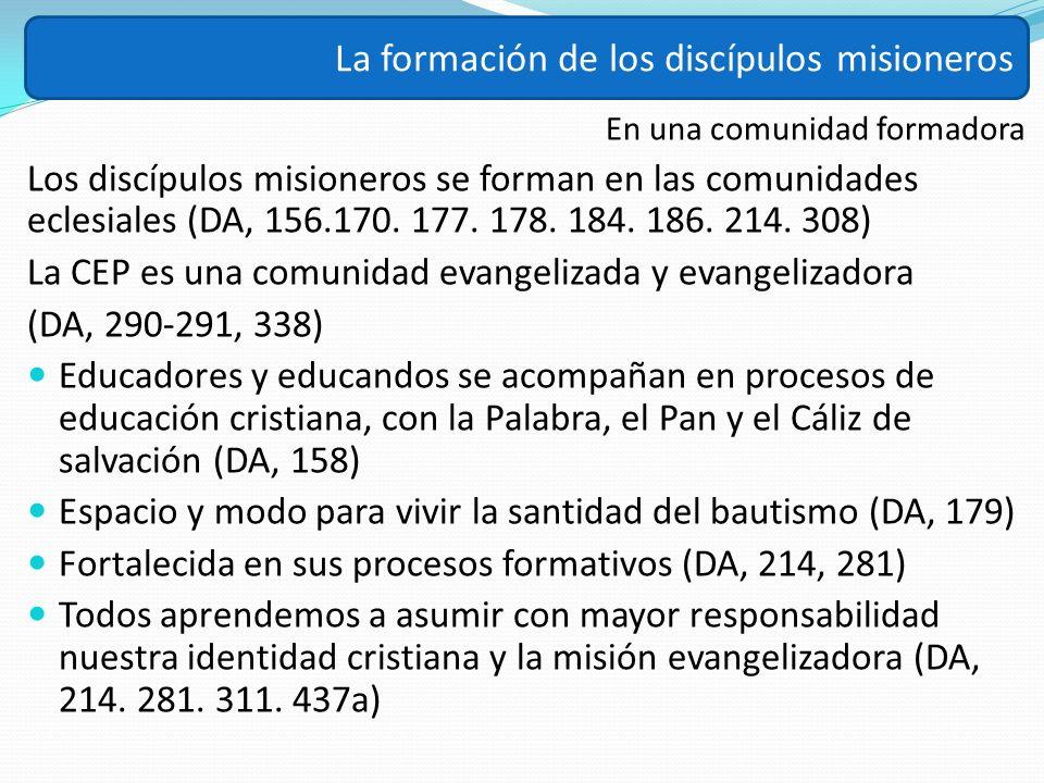 La formación de los discípulos misioneros