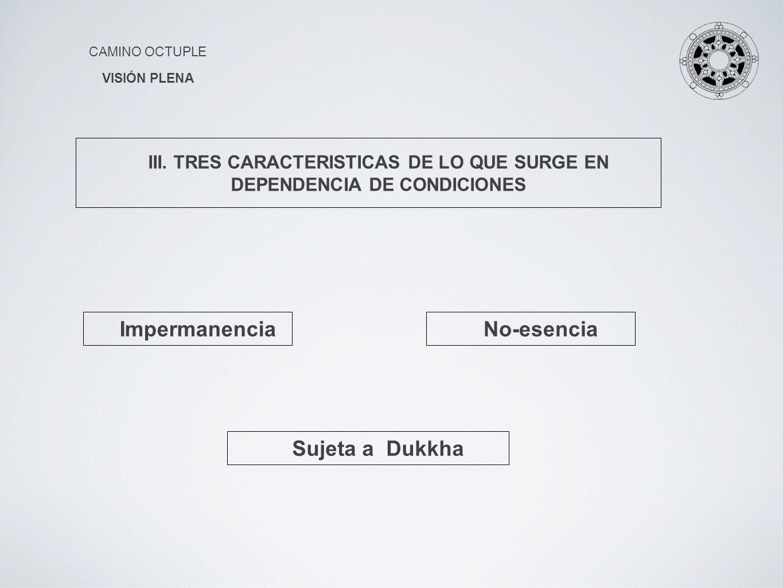 Impermanencia No-esencia Sujeta a Dukkha