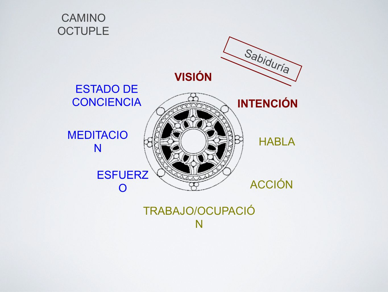 CAMINO OCTUPLE Sabiduría. VISIÓN. ESTADO DE CONCIENCIA. INTENCIÓN. MEDITACION. HABLA. ESFUERZO.