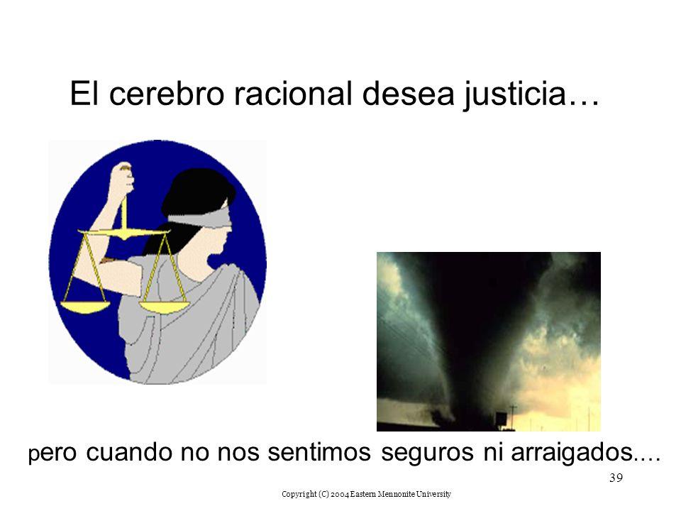El cerebro racional desea justicia…