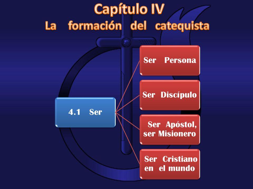 Capítulo IV La formación del catequista 4.1 Ser Ser Persona