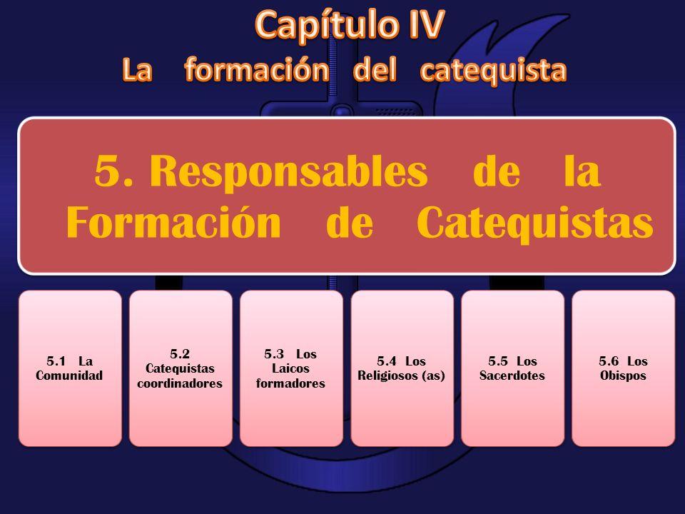 Capítulo IV La formación del catequista