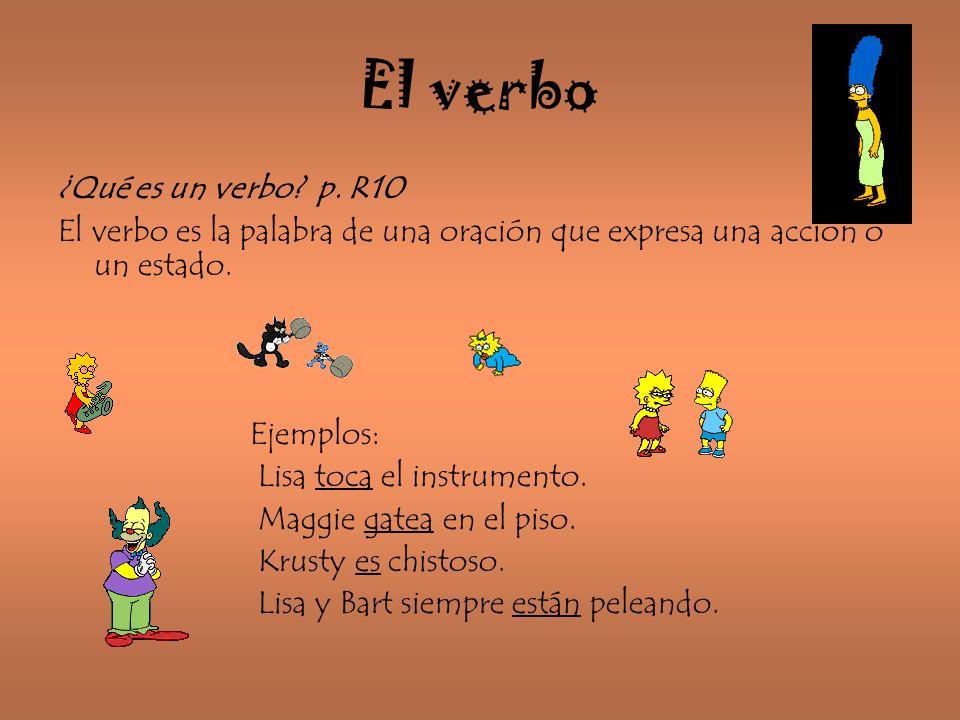 El verbo ¿Qué es un verbo p. R10
