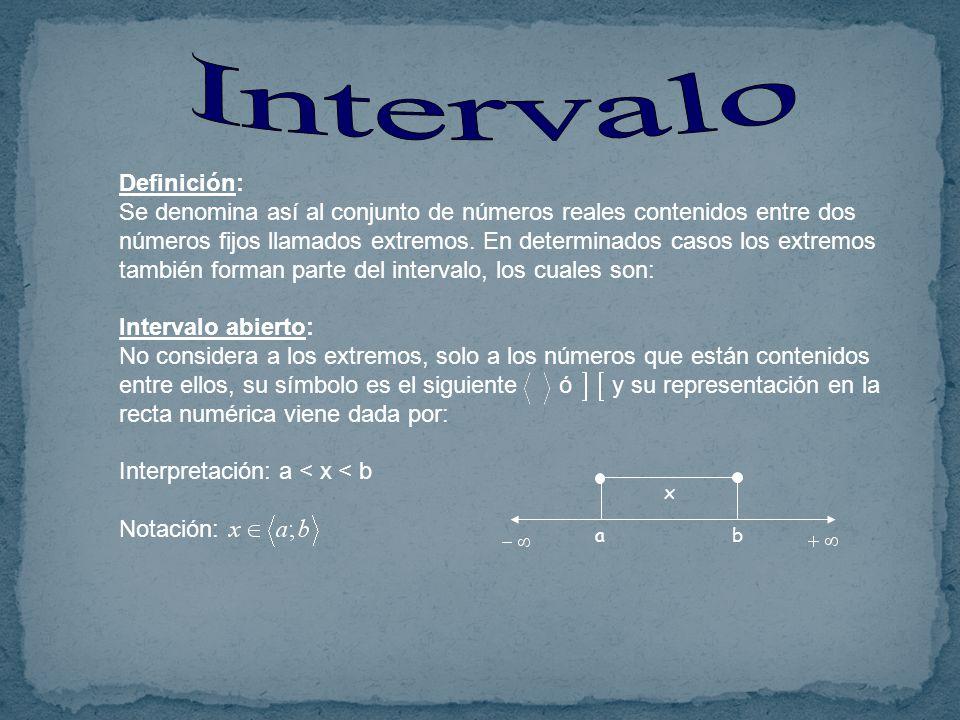 Intervalo Definición: