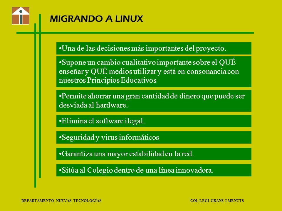 MIGRANDO A LINUX Una de las decisiones más importantes del proyecto.